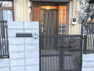 エクステリアリフォーム ブロック塀からフェンスにリフォームして倒壊防止