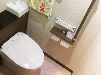 トイレリフォーム タンクの見えないスッキリしたデザインのトイレ
