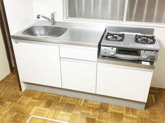 キッチンリフォーム 家の歪みを修繕して一新したキッチン