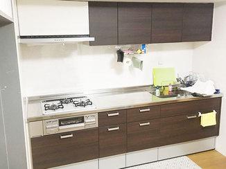 キッチンリフォーム 調理スペースを広げて使いやすくなったキッチン