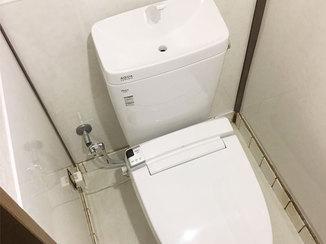 トイレリフォーム かんたんに汚れが落とせる掃除がしやすいトイレ