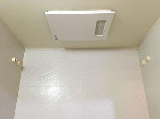 バスルームリフォーム 操作がしやすく、見た目もスッキリした浴室換気暖房乾燥機