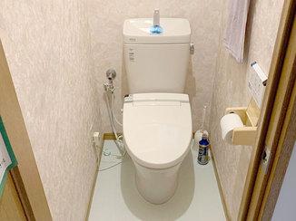 トイレリフォーム 便器の形がなだらかでお掃除がしやすくなったトイレ