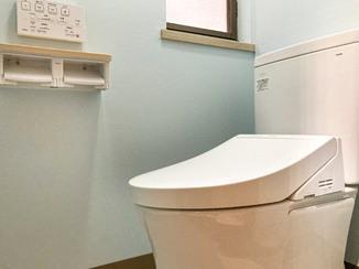 トイレリフォーム 安心して使える落ち着いたトイレ空間