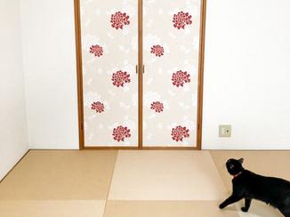 内装リフォーム 猫のひっかき対策をした和モダンなお部屋と、センサー付き防犯ライト